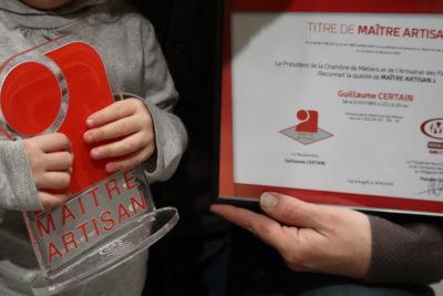 Guillaume obtient le titre de «Maître Artisan Brasseur»